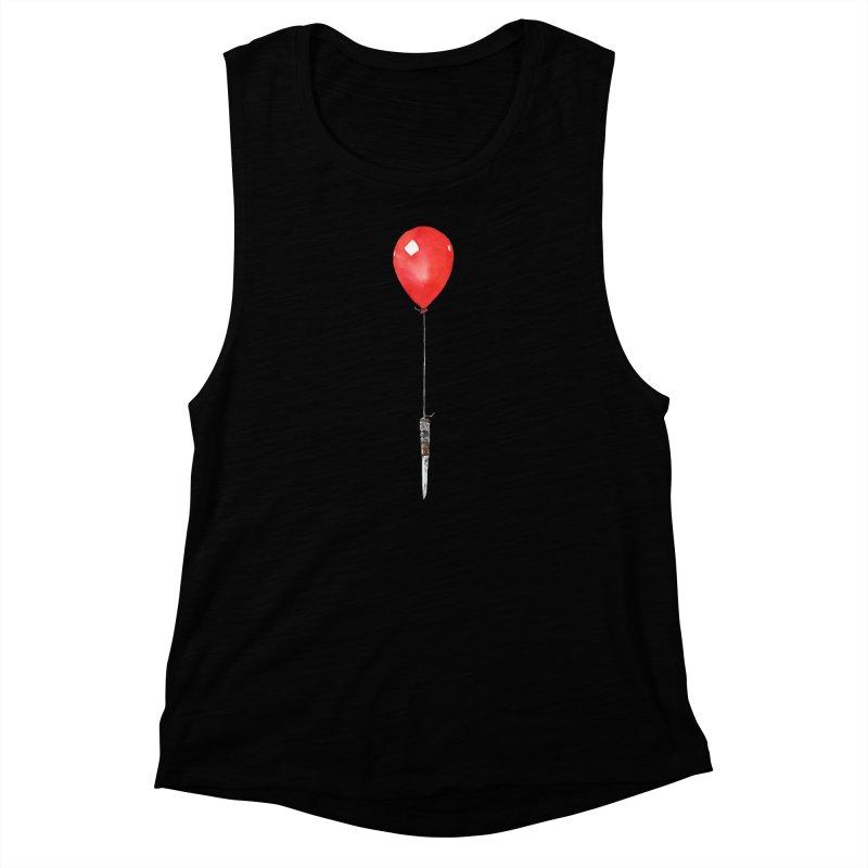 red balloon Women's Muscle Tank by Dustin Nguyen's Artist Shop