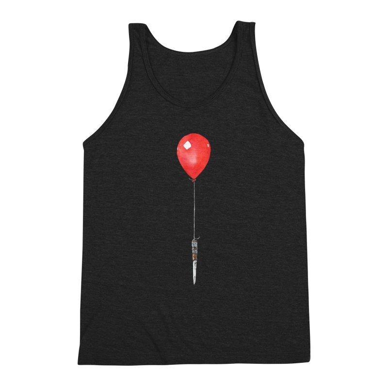 red balloon Men's Triblend Tank by Dustin Nguyen's Artist Shop