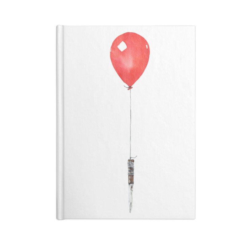 red balloon Accessories Notebook by Dustin Nguyen's Artist Shop