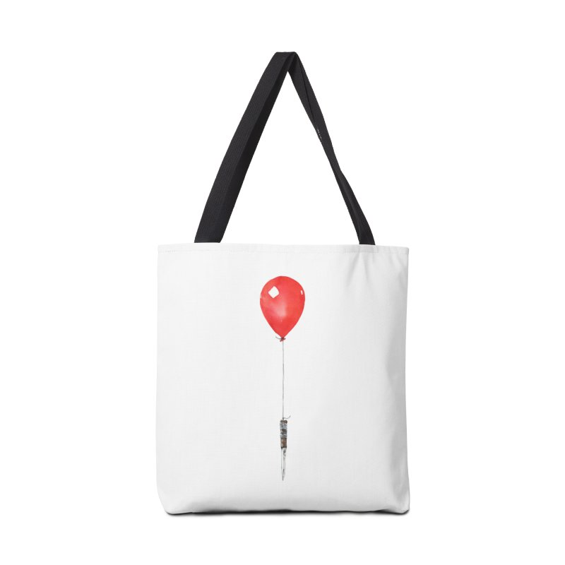 red balloon Accessories Tote Bag Bag by Dustin Nguyen's Artist Shop