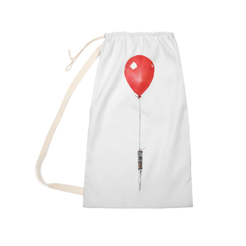 red balloon Accessories Laundry Bag Bag by Dustin Nguyen's Artist Shop