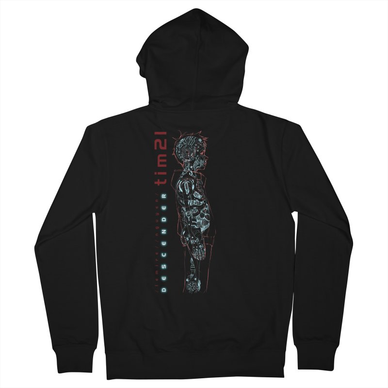 tim21 Men's French Terry Zip-Up Hoody by Dustin Nguyen's Artist Shop