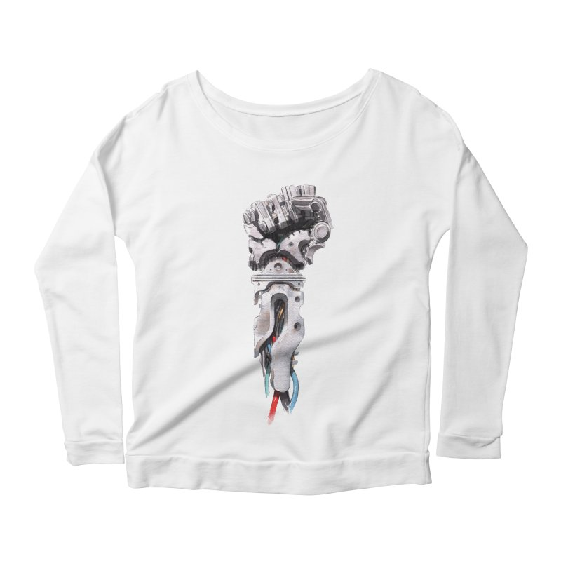 RISE Women's Scoop Neck Longsleeve T-Shirt by Dustin Nguyen's Artist Shop