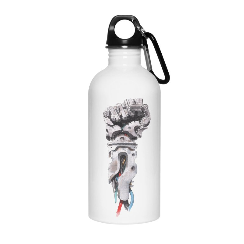 RISE Accessories Water Bottle by Dustin Nguyen's Artist Shop