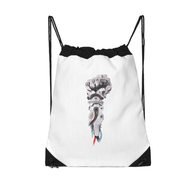 RISE Accessories Drawstring Bag Bag by Dustin Nguyen's Artist Shop