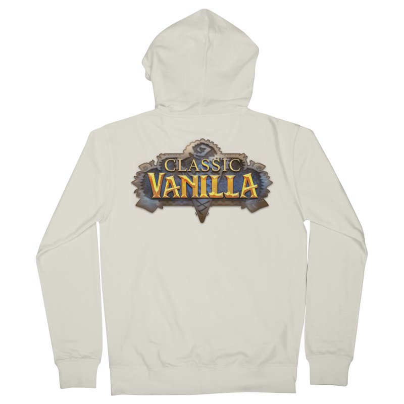 Classic Vanilla Men's French Terry Zip-Up Hoody by dustinlincoln's Artist Shop