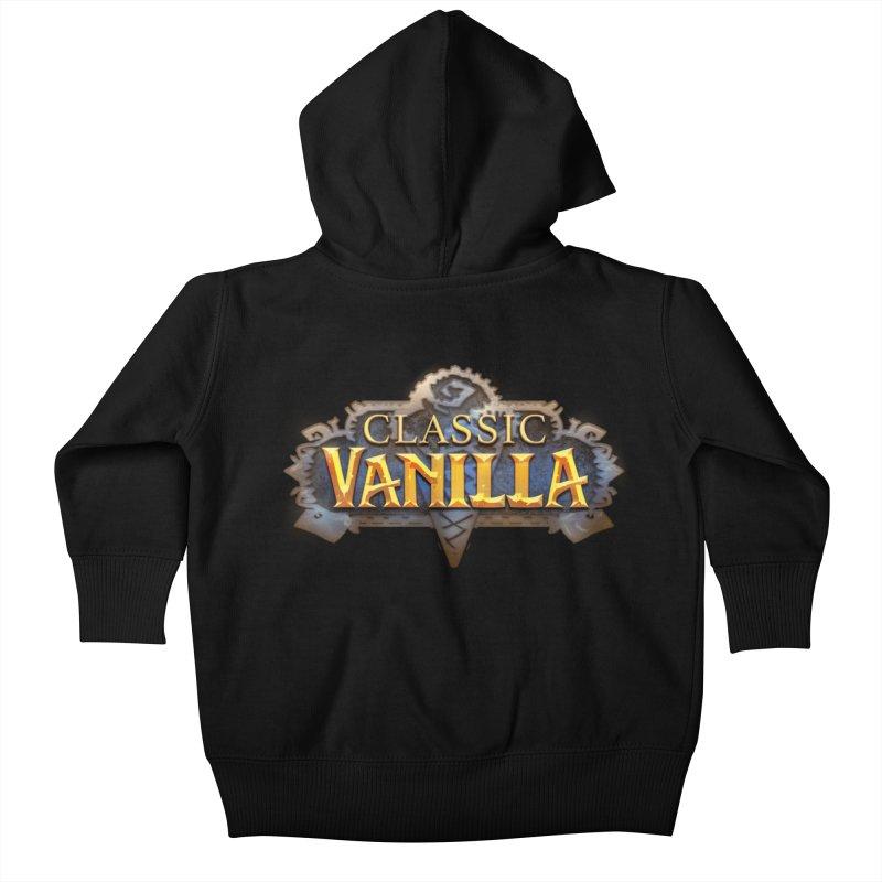 Classic Vanilla Kids Baby Zip-Up Hoody by dustinlincoln's Artist Shop