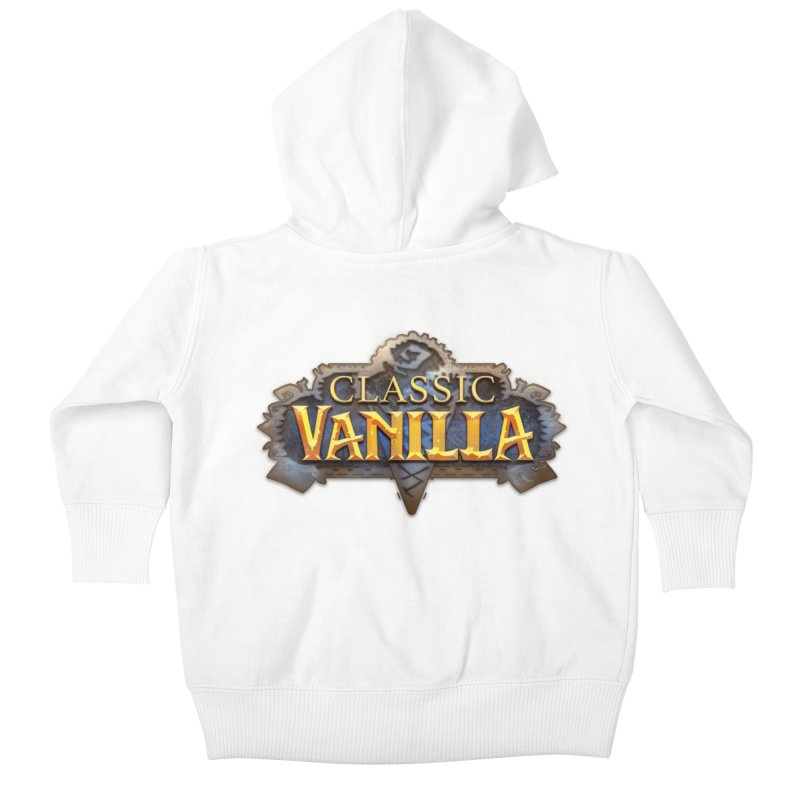 Classic Vanilla Kids Baby Zip-Up Hoody by dustinlincoln's Artist Shop