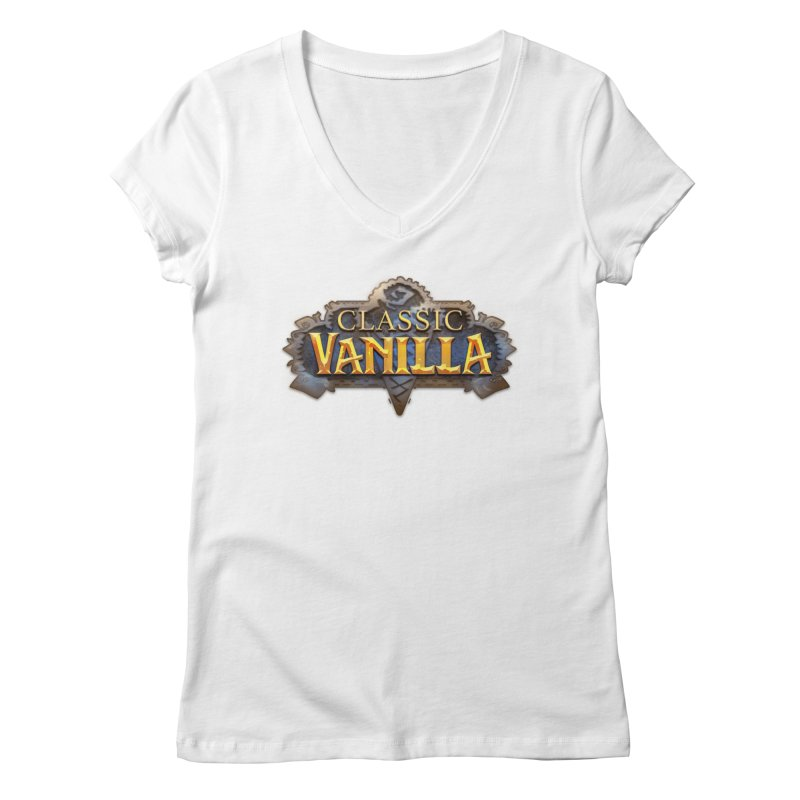 Classic Vanilla Women's Regular V-Neck by dustinlincoln's Artist Shop