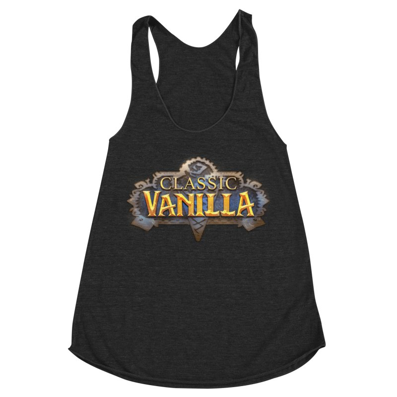 Classic Vanilla Women's Racerback Triblend Tank by dustinlincoln's Artist Shop