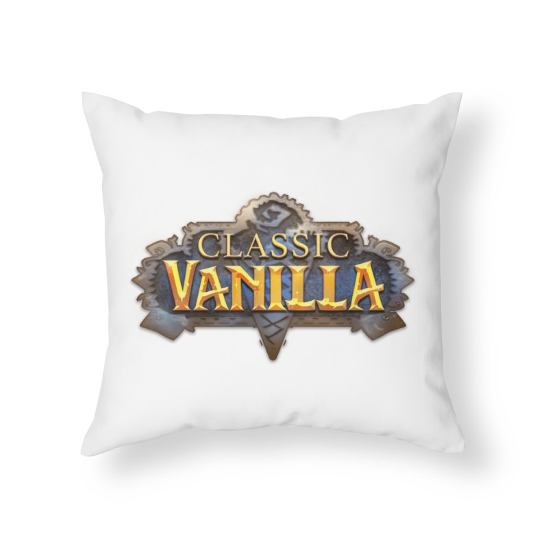 Classic Vanilla Home Throw Pillow by dustinlincoln's Artist Shop