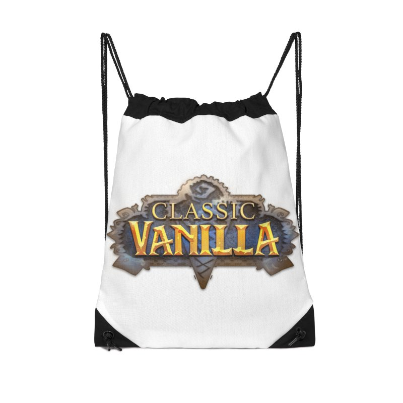 Classic Vanilla Accessories Drawstring Bag Bag by dustinlincoln's Artist Shop