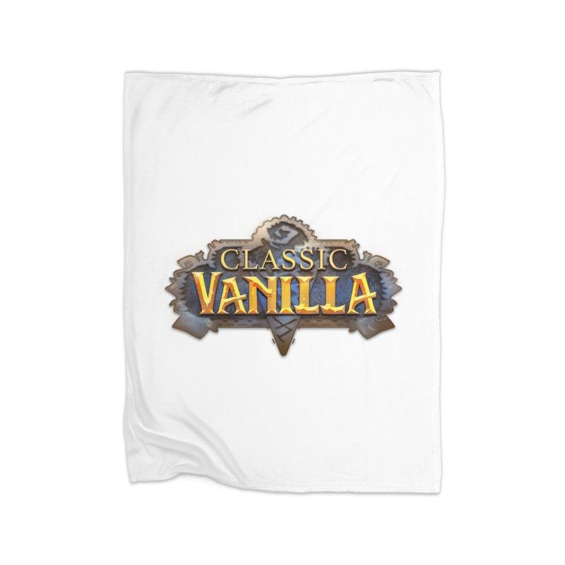 Classic Vanilla Home Fleece Blanket Blanket by dustinlincoln's Artist Shop