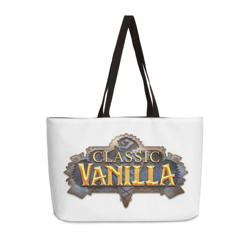 Classic Vanilla Accessories Weekender Bag Bag by dustinlincoln's Artist Shop