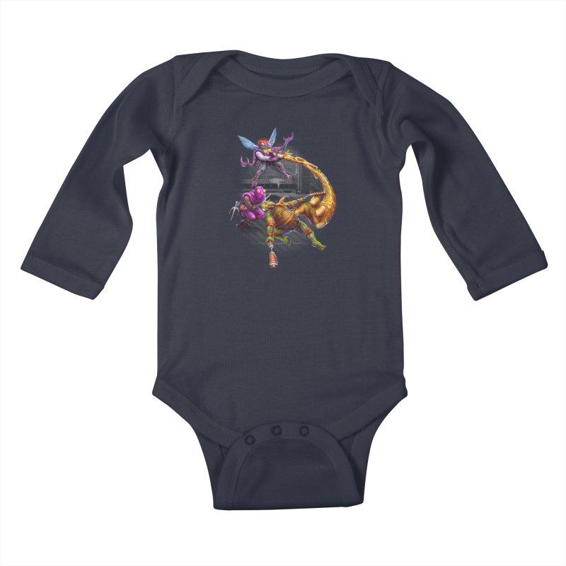 Big Apple 3 A.M. Kids Baby Longsleeve Bodysuit by dustinlincoln's Artist Shop
