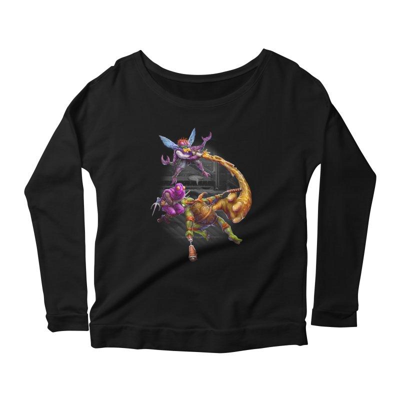 Big Apple 3 A.M. Women's Scoop Neck Longsleeve T-Shirt by dustinlincoln's Artist Shop