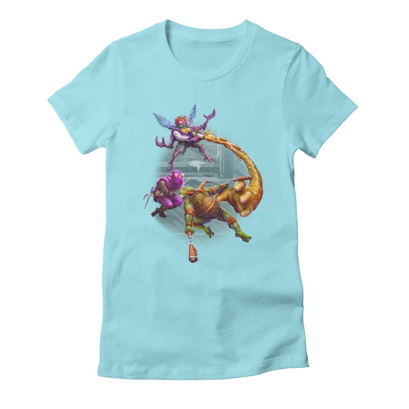 Big Apple 3 A.M. Women's Fitted T-Shirt by dustinlincoln's Artist Shop