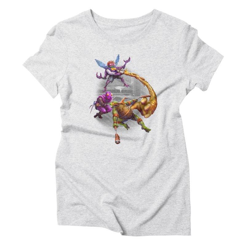 Big Apple 3 A.M. Women's Triblend T-Shirt by dustinlincoln's Artist Shop