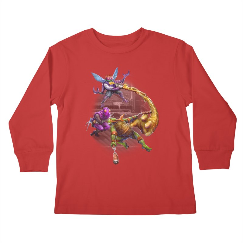 Big Apple 3 A.M. Kids Longsleeve T-Shirt by dustinlincoln's Artist Shop