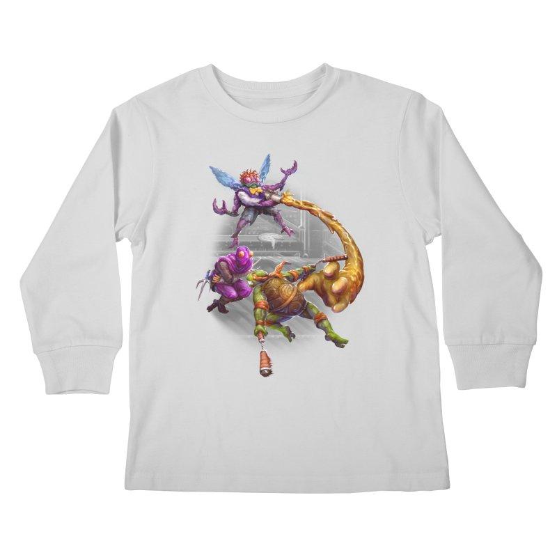 Big Apple 3 A.M. Kids Longsleeve T-Shirt by dustinlincoln's Artist Shop