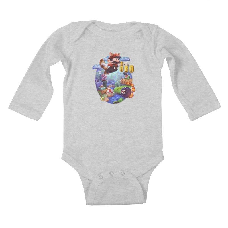 High Adventure Kids Baby Longsleeve Bodysuit by dustinlincoln's Artist Shop