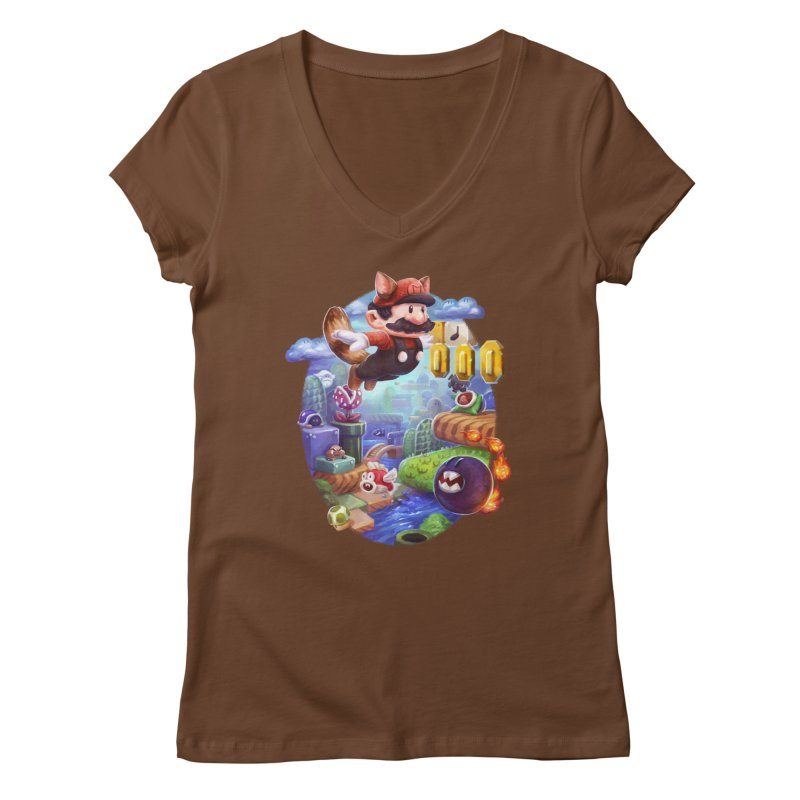 High Adventure Women's Regular V-Neck by dustinlincoln's Artist Shop
