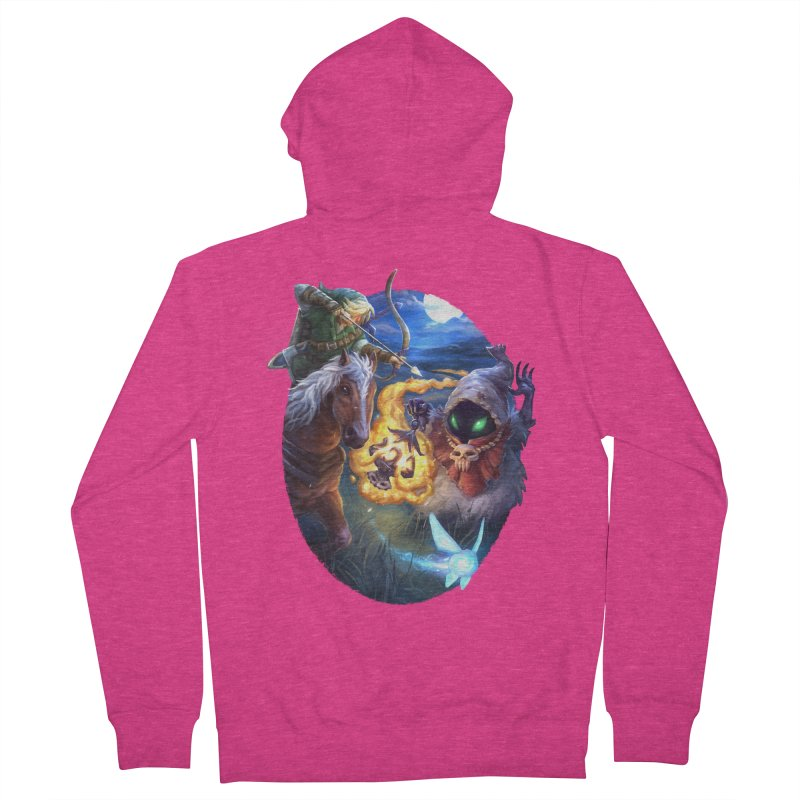 Poe Huntin' Women's French Terry Zip-Up Hoody by dustinlincoln's Artist Shop