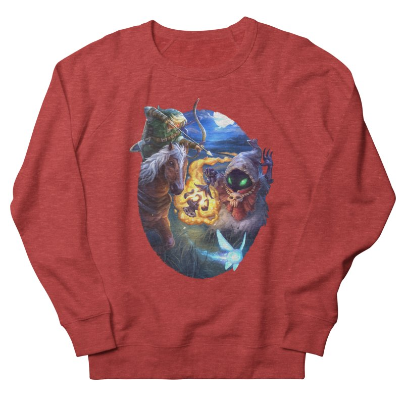 Poe Huntin' Men's French Terry Sweatshirt by dustinlincoln's Artist Shop