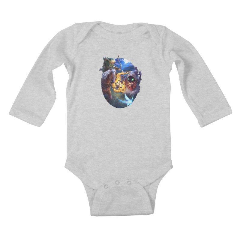 Poe Huntin' Kids Baby Longsleeve Bodysuit by dustinlincoln's Artist Shop