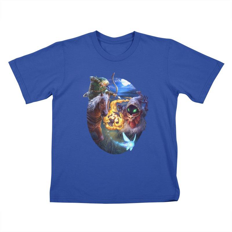 Poe Huntin' Kids T-Shirt by dustinlincoln's Artist Shop