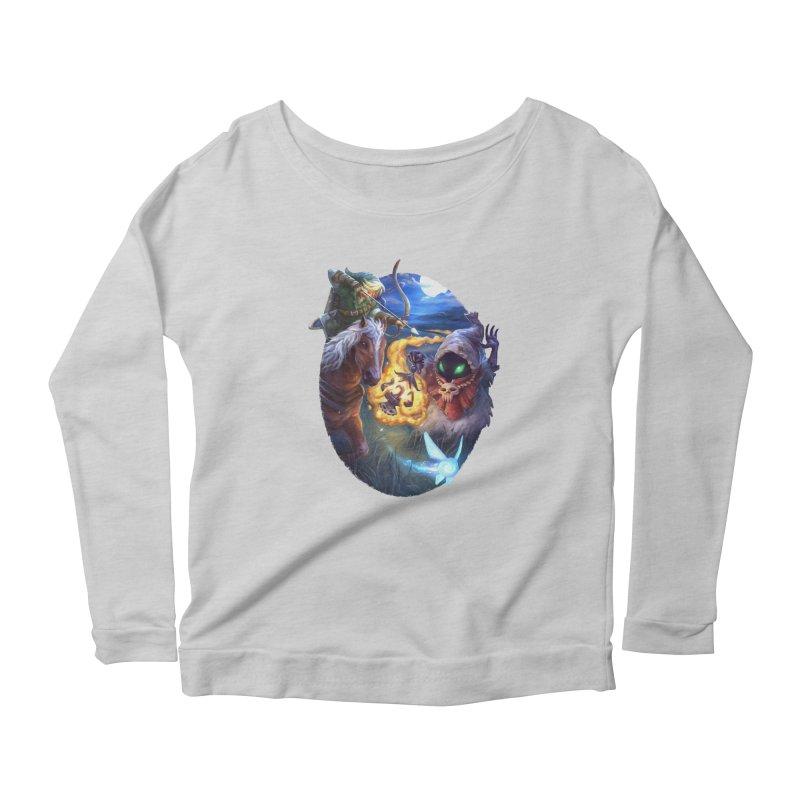 Poe Huntin' Women's Scoop Neck Longsleeve T-Shirt by dustinlincoln's Artist Shop