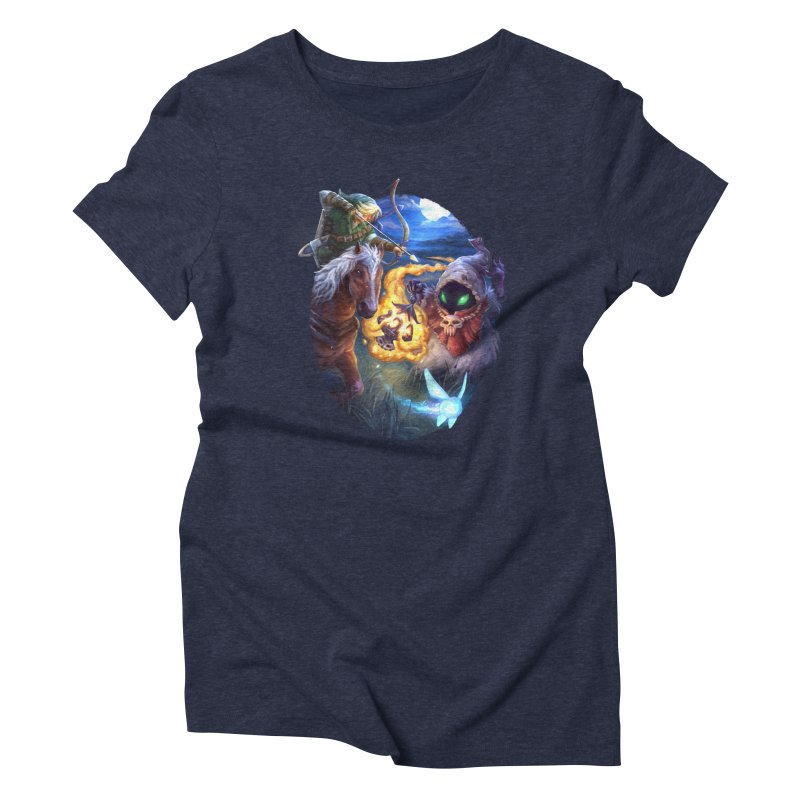 Poe Huntin' Women's Triblend T-Shirt by dustinlincoln's Artist Shop