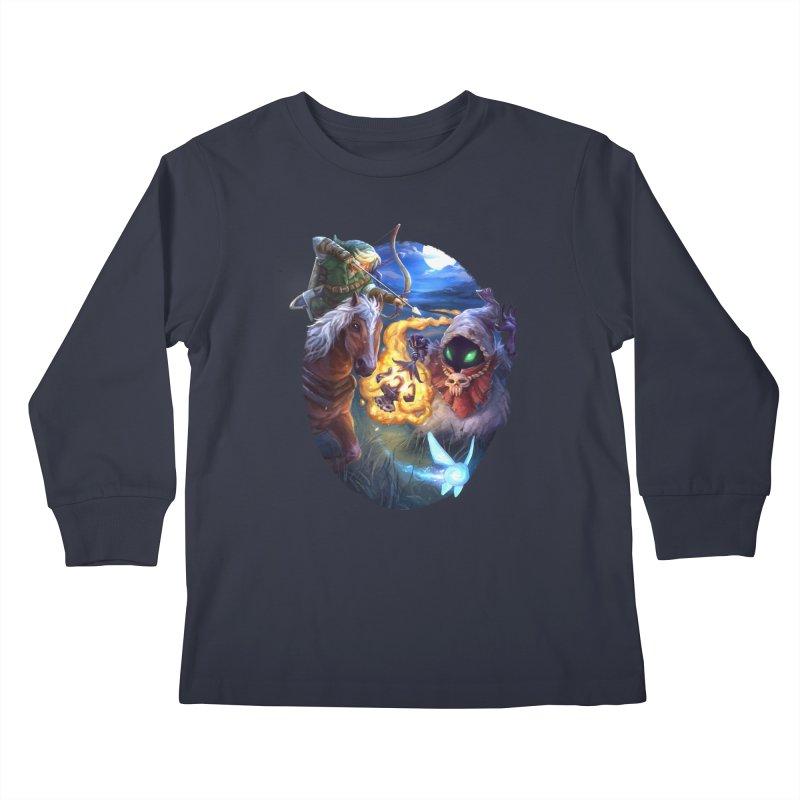 Poe Huntin' Kids Longsleeve T-Shirt by dustinlincoln's Artist Shop