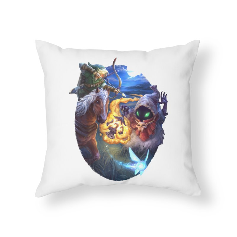 Poe Huntin' Home Throw Pillow by dustinlincoln's Artist Shop