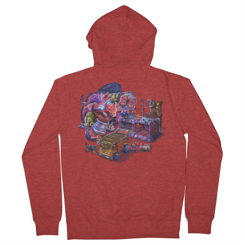 Toytles Women's French Terry Zip-Up Hoody by dustinlincoln's Artist Shop