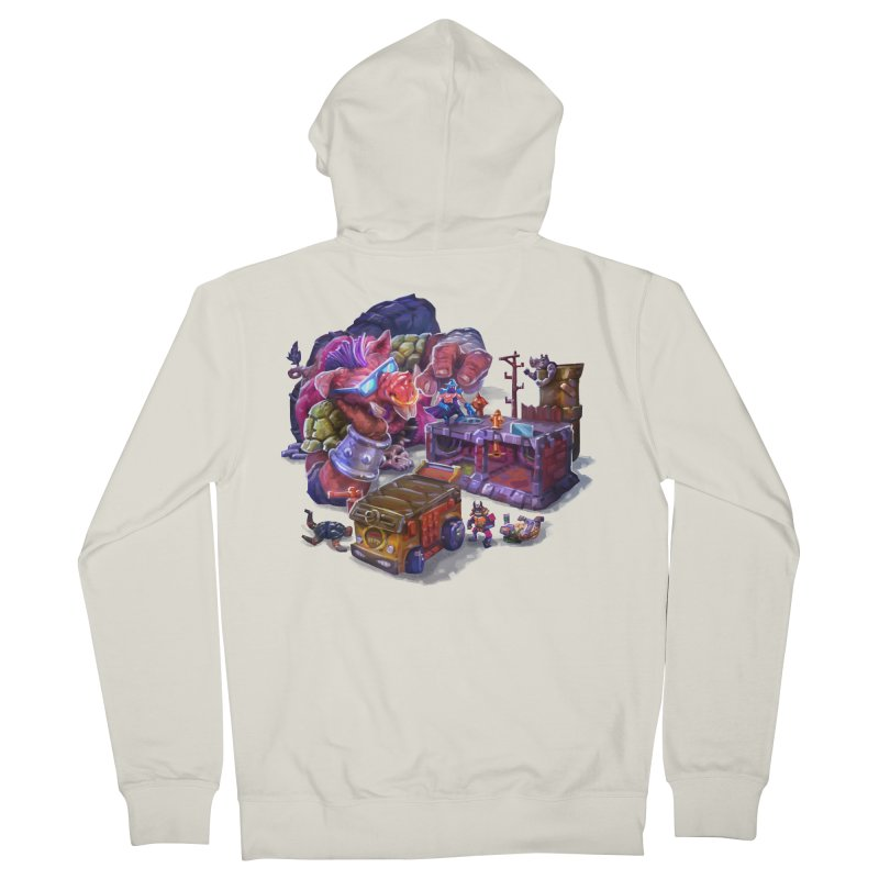 Toytles Men's French Terry Zip-Up Hoody by dustinlincoln's Artist Shop