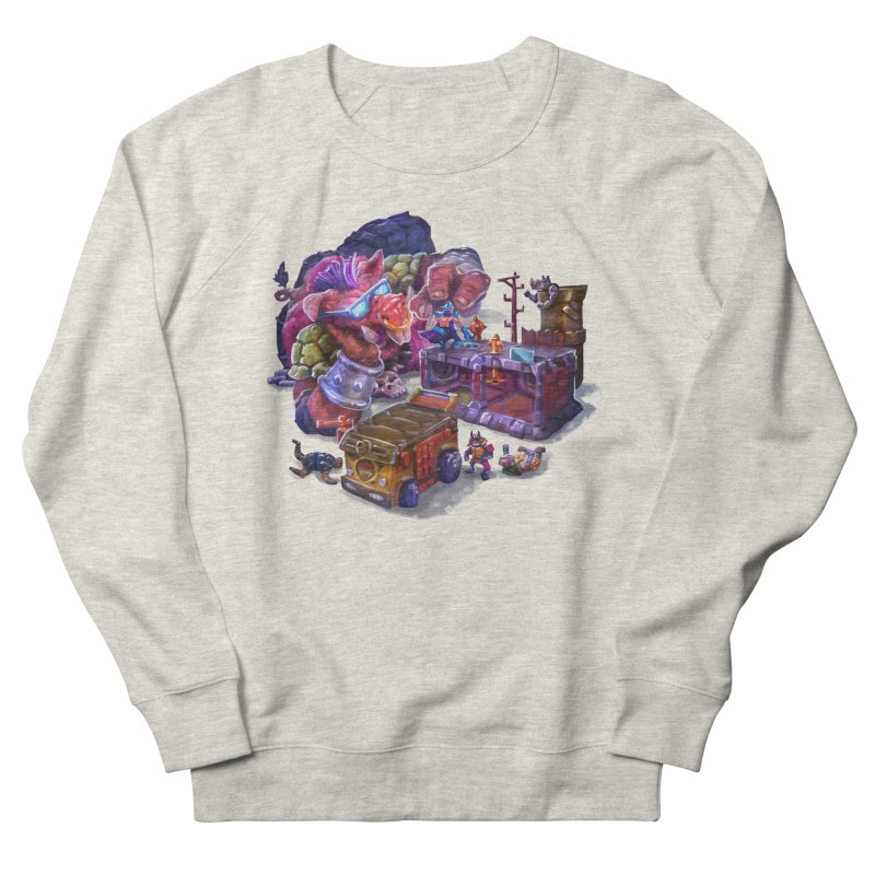 Toytles Men's French Terry Sweatshirt by dustinlincoln's Artist Shop