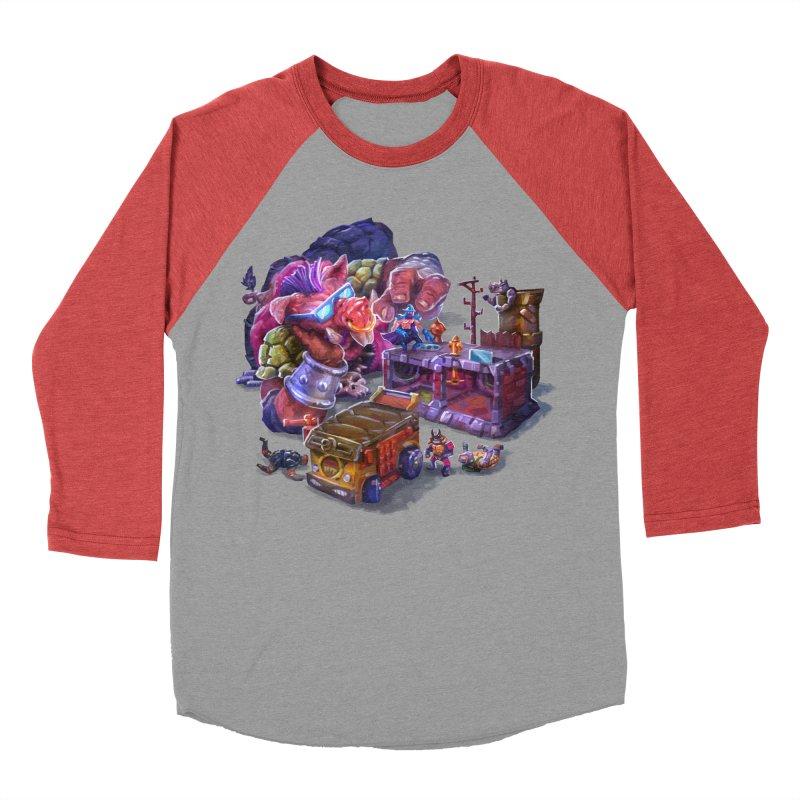 Toytles Men's Baseball Triblend Longsleeve T-Shirt by dustinlincoln's Artist Shop