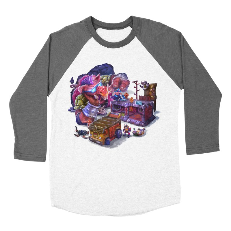 Toytles Men's Baseball Triblend Longsleeve T-Shirt by dustinlincoln's Artist Shop