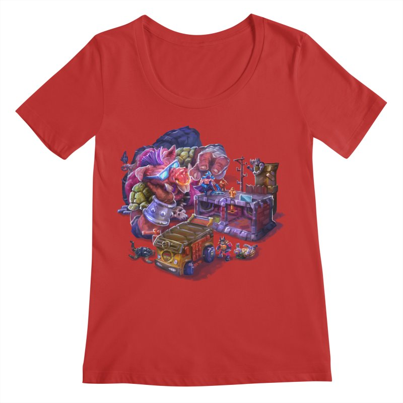 Toytles Women's Regular Scoop Neck by dustinlincoln's Artist Shop