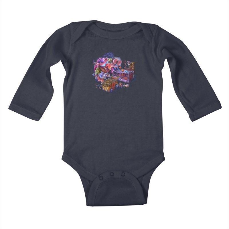 Toytles Kids Baby Longsleeve Bodysuit by dustinlincoln's Artist Shop