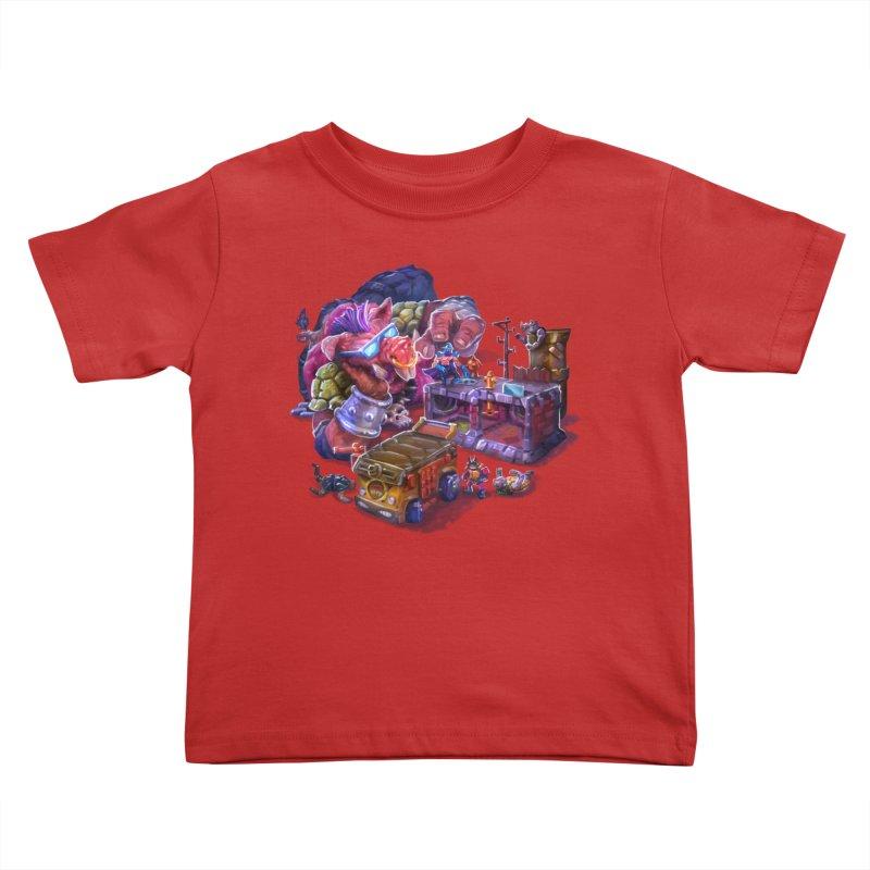 Toytles Kids Toddler T-Shirt by dustinlincoln's Artist Shop