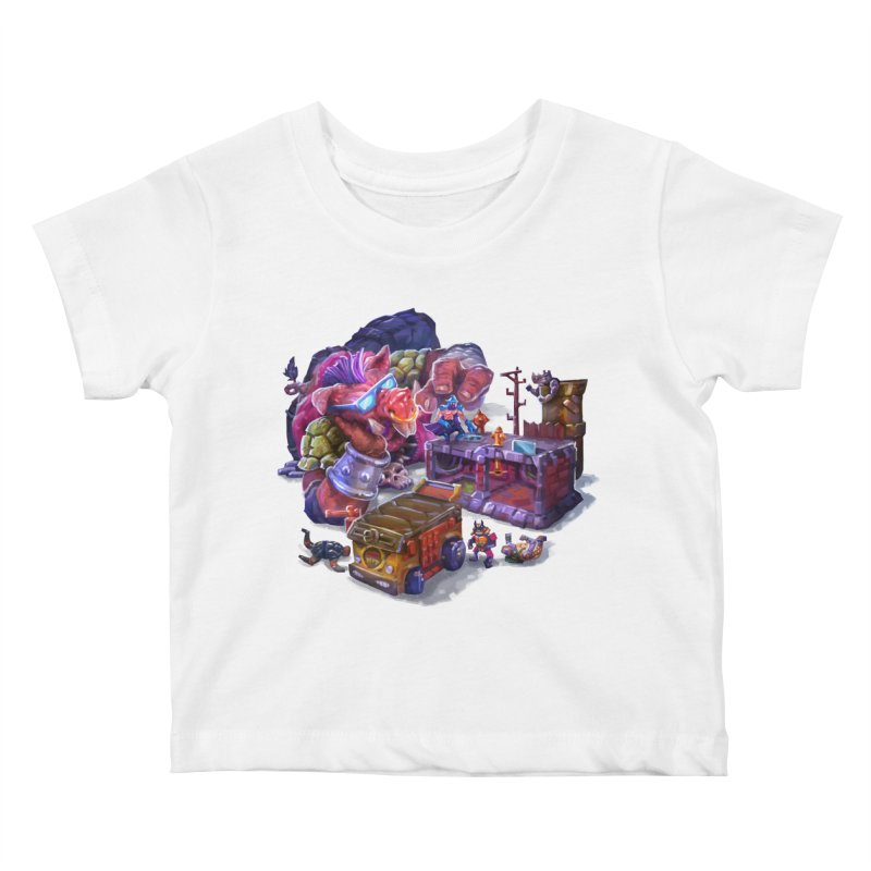 Toytles Kids Baby T-Shirt by dustinlincoln's Artist Shop