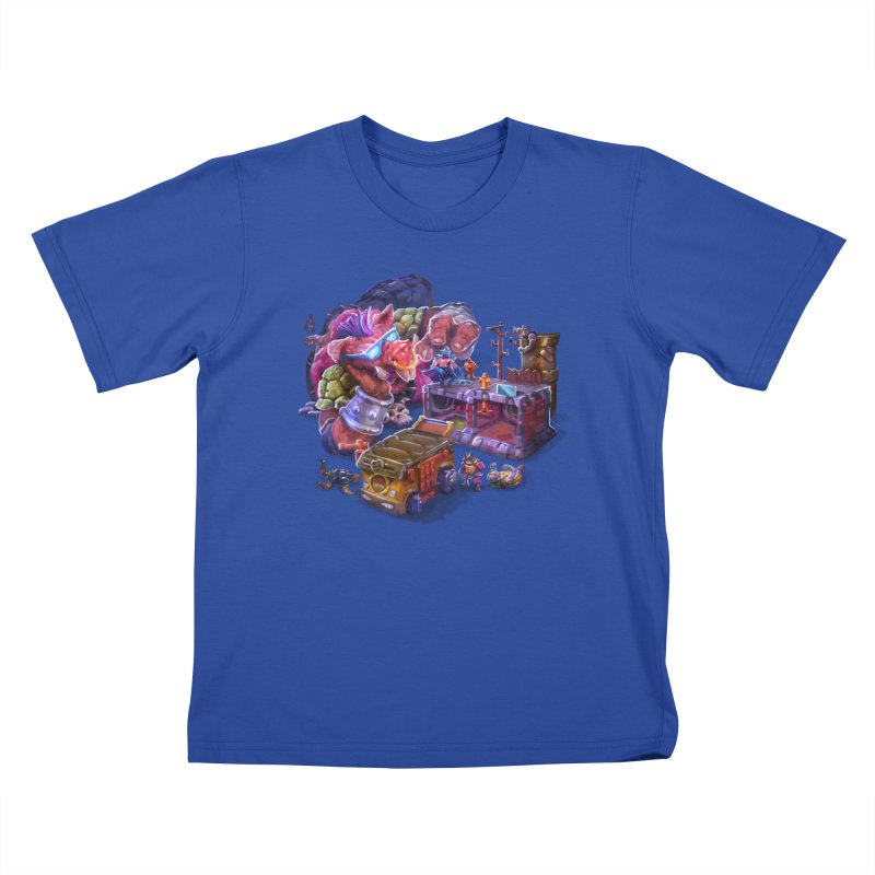 Toytles Kids T-Shirt by dustinlincoln's Artist Shop