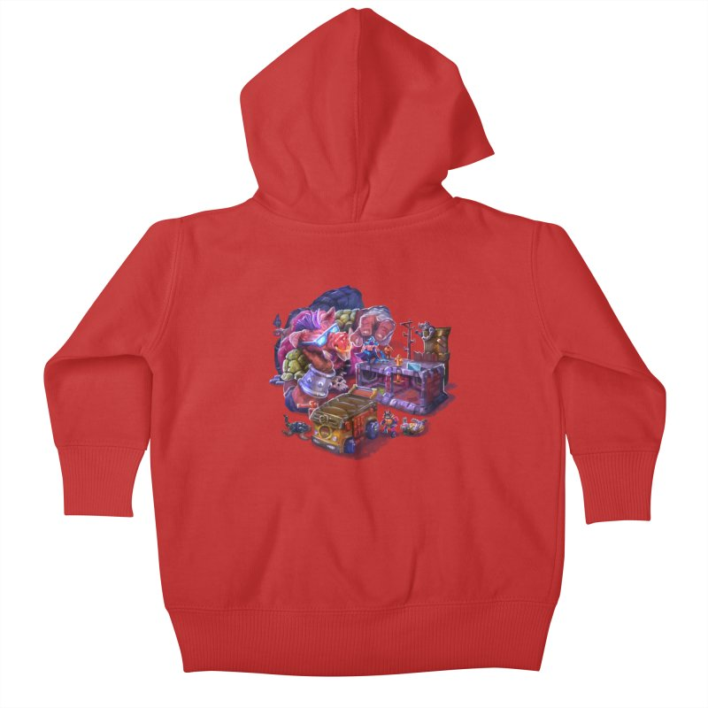 Toytles Kids Baby Zip-Up Hoody by dustinlincoln's Artist Shop