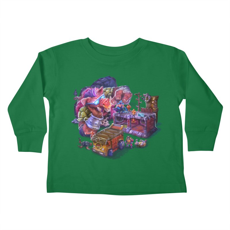Toytles Kids Toddler Longsleeve T-Shirt by dustinlincoln's Artist Shop