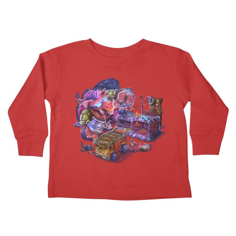 Toytles Kids Toddler Longsleeve T-Shirt by dustinlincoln's Artist Shop