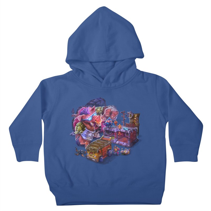 Toytles Kids Toddler Pullover Hoody by dustinlincoln's Artist Shop
