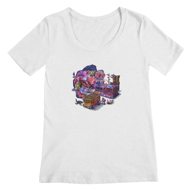 Toytles Women's Scoop Neck by dustinlincoln's Artist Shop