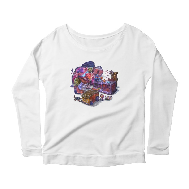 Toytles Women's Scoop Neck Longsleeve T-Shirt by dustinlincoln's Artist Shop
